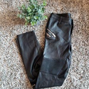 Zara black faux leggings